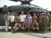 Djibouti David Dan Dean Jason and the troops by a chinook credit Dean Kaelin