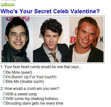 Who's Your Celebrity Valentine? - Celebrity Valentine Quiz - Marie Claire
