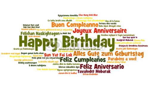 Поздравление с днём рождения на всех языках мира 41