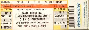 Ben-MN-David ticket 2009