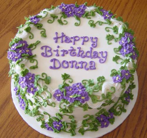 happy birthday donna cakes