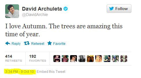 Tweet David likes autumn