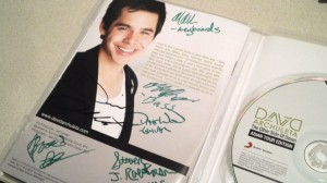 - Keiko got her cd signed by David!