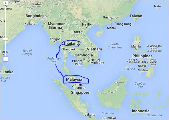 Map+Of+Thailand+And+Malaysia Map Thailand and Malaysia