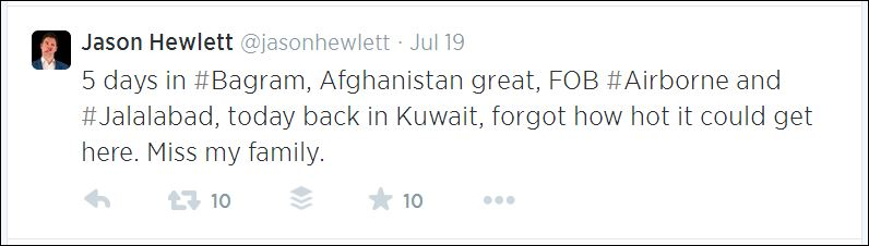 jason hewlett tweet travel