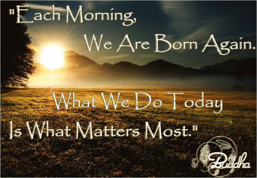 quote each morning we are born again