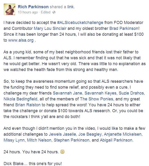 Rich Parkinson ALS Ice Bucket Challenge