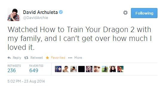 tweet How to train your dragon 2