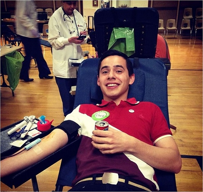 Donating blood zoom