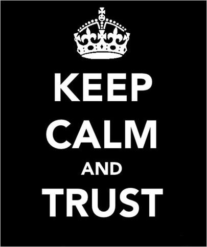 quote keep calm and trust