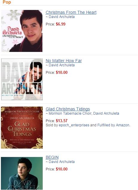 Amazon David's cds on sale