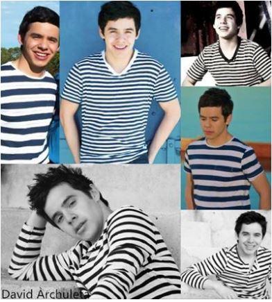 Collage stripes credit David Archuleta community pg with  Archielhyz Castigon Vallermosa.