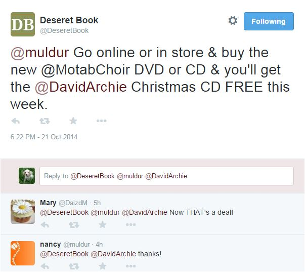 Deseret Tweet Free CD specs to Muldur