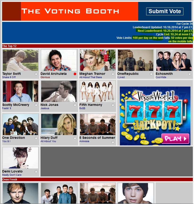 Musiqtone Voting Booth Glorious