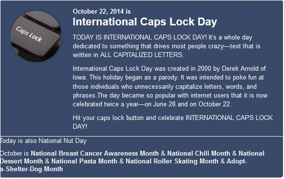 NAtional caps day 2014