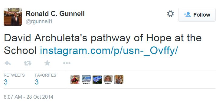 Ron Gunnell David Archuleta RSO Pathway of Hope