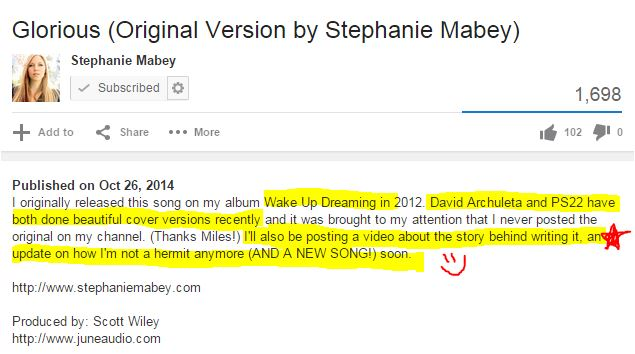 Stephanie Mabey Glorious message