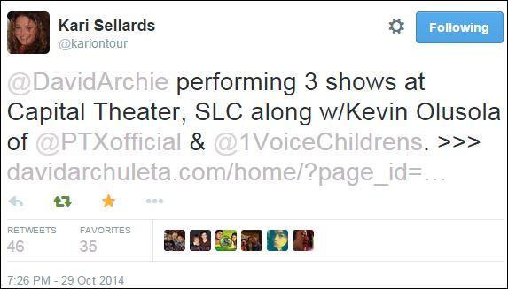 Tweet KAri three shows