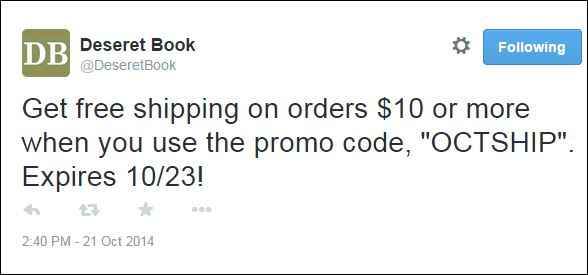 deseret free shipping promo code