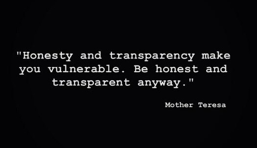 honesty transparent quote
