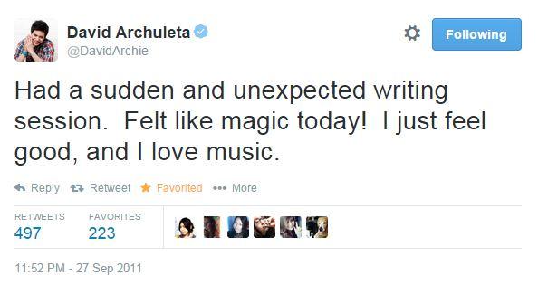 tweet I just love music