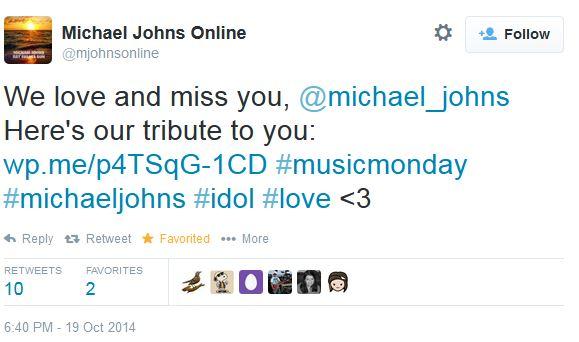 tweet MichaelJOhns tribute