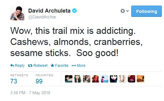 tweet david archuleta trailmix almond addicting
