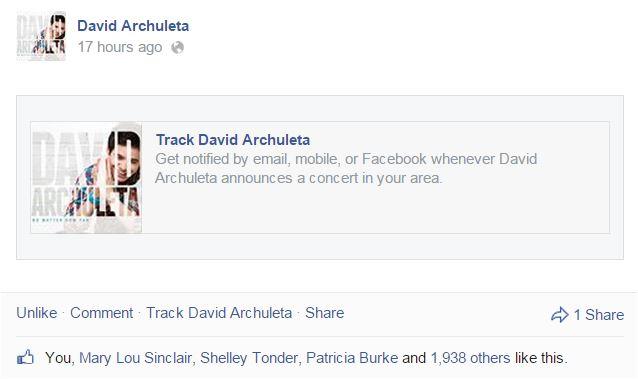 fb David Track your artist