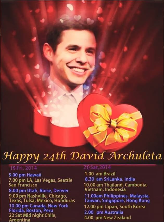 Trend Happy 24th David Archuleta