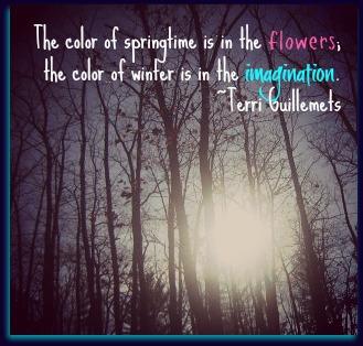 winter imagination quote