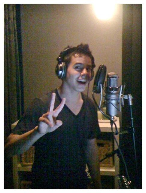 David recording with Joy Williams 2009