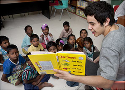 - Reading to RSO Children in India
