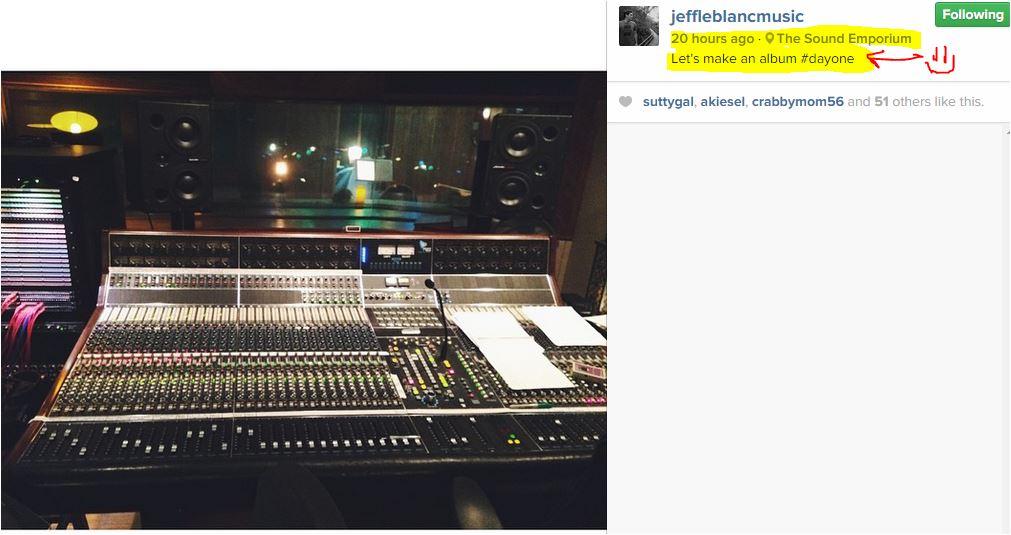 Jeff Leblanc new album day 1
