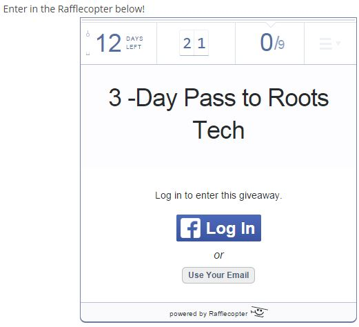 roots tech 3 day pass contest