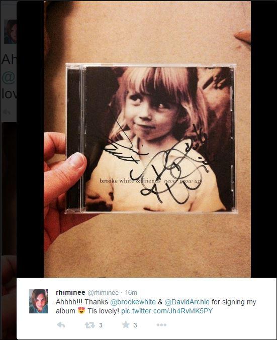 tina david never grow up brooke signature cd