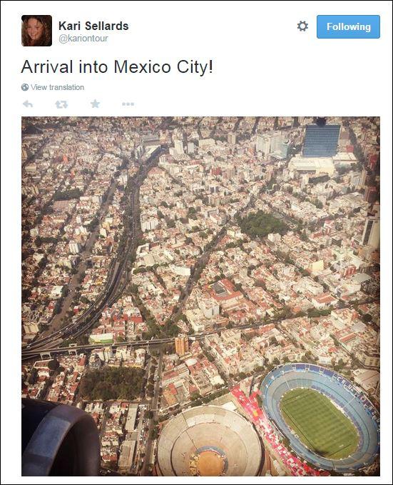 kari tweet arrival aerial view