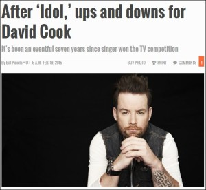 ups and downs for David Cook