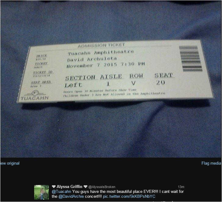 alyssa griffin Tuacahn ticket bought