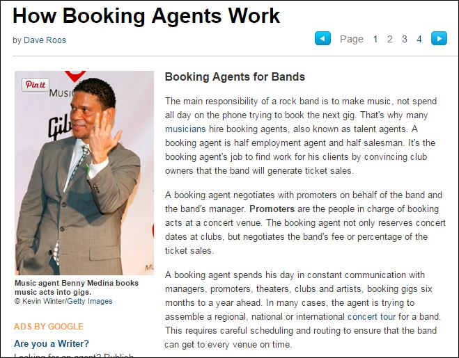 how stuff works booking agent