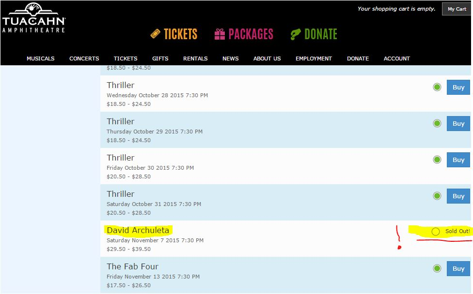 tuacahn sold out
