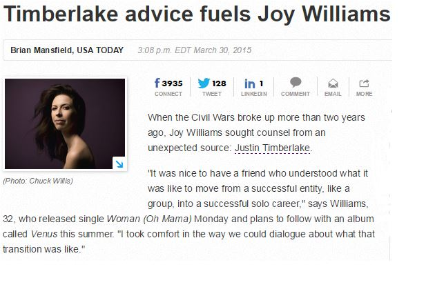 Joy Williams Timberlake fuels