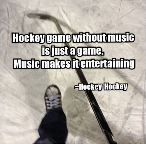 quote hockey game without music
