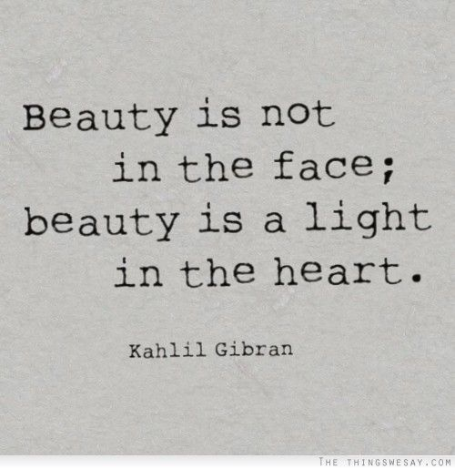 beauty face heart quote