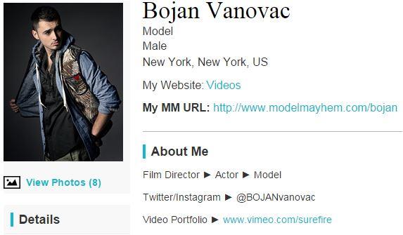 Bojan vanovac model site bio