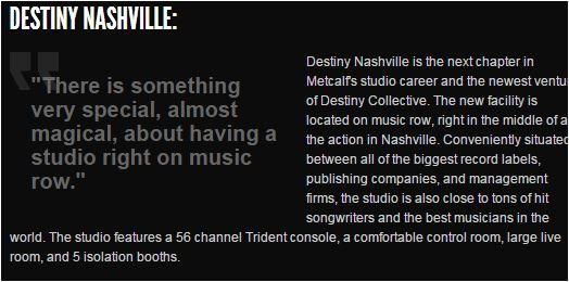 Brandon Metcalf Destiny Nashville