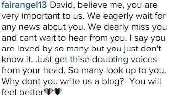 response to Lindsey Stirling post by david 7