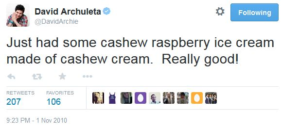 tweet ice cream cashew raspberry