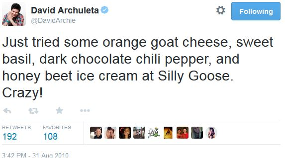 tweet ice cream orange goat cheese silly goose