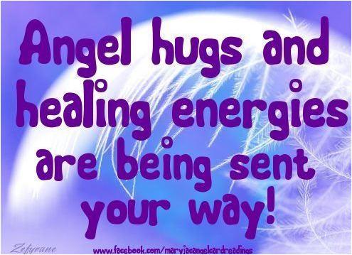 Angel hugs and healing energies