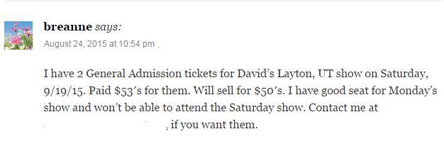 BReanne Tickets for LAyton